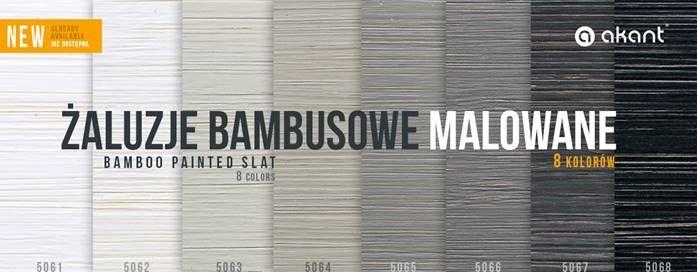 Nowa kolekcja żaluzji bambusowych