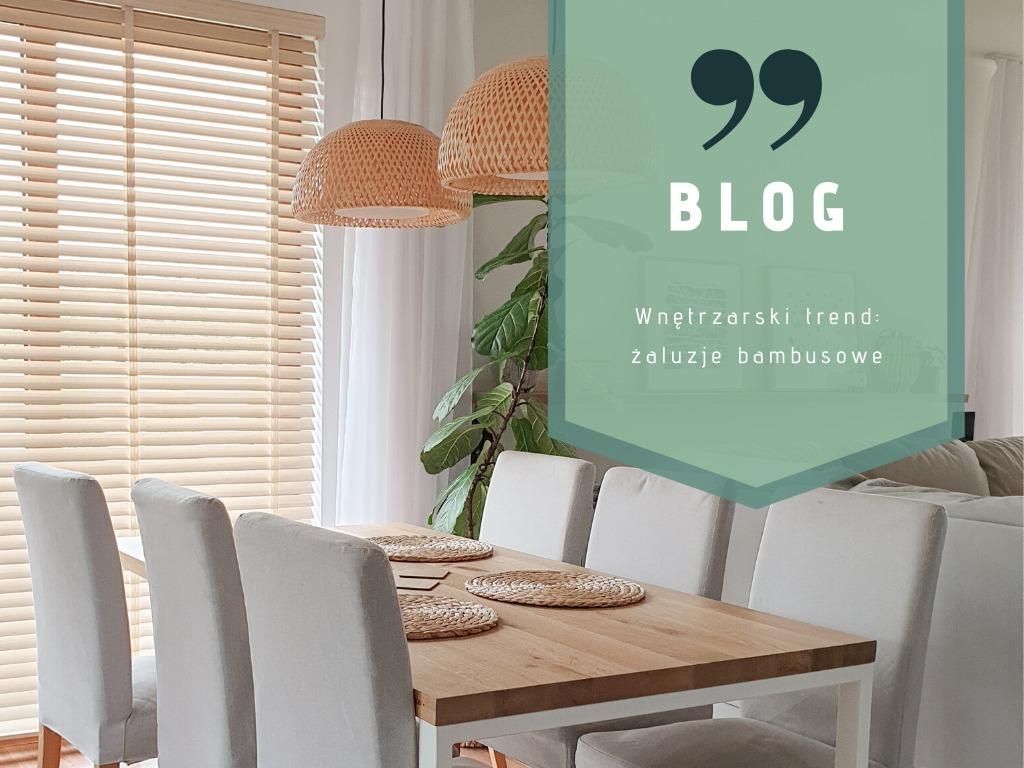 Wnętrzarski trend: żaluzje bambusowe